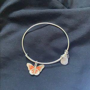 orange butterfly alex and ani bracelet
